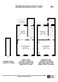 Large floorplan for Leinster Terrace, Bayswater, W2