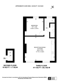 Large floorplan for Leigh Street, Bloomsbury, WC1H