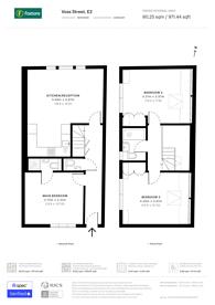 Large floorplan for Voss Street, Bethnal Green, E2