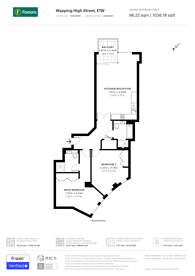 Large floorplan for Marc Brunel House, Wapping, E1W