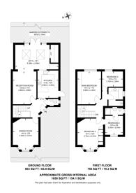 Large floorplan for Bonnersfield Close, Harrow, HA1