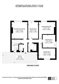 Large floorplan for Poynders Gardens, Clapham Park, SW4
