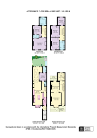 Large floorplan for Scarsdale Villas, Kensington, W8