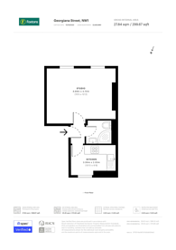 Large floorplan for Georgiana Street, Camden, NW1