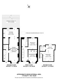 Large floorplan for Edith Road, South Park Gardens, SW19