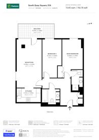 Large floorplan for South Quay Square, Canary Wharf, E14