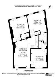 Large floorplan for Kensington Church Court, Kensington, W8