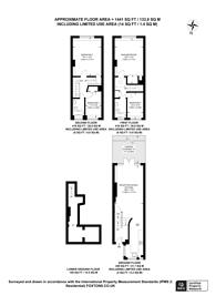 Large floorplan for Porchester Gardens, Bayswater, W2