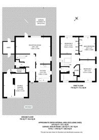 Large floorplan for Brooke Avenue, South Harrow, HA2