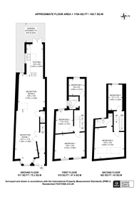 Large floorplan for Caistor Park Road, Stratford, E15