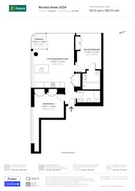 Large floorplan for Worship Street, City, EC2A