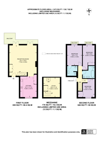 Large floorplan for Queens Gardens, Bayswater, W2