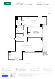 Large floorplan for Cable Street, Shadwell, E1