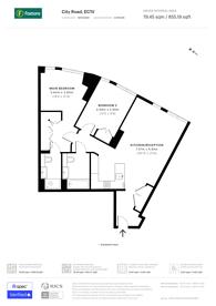 Large floorplan for City Road, Clerkenwell, EC1V