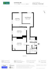 Large floorplan for Lant Street, Borough, SE1