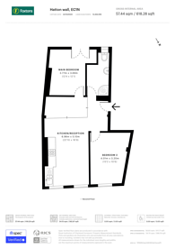Large floorplan for Hatton Wall, Clerkenwell, EC1N