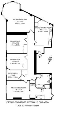 Large floorplan for Connaught Street, Hyde Park Estate, W2