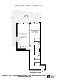Large floorplan for York Road, Clapham Junction, SW11