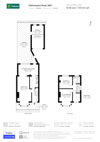 Large floorplan for Oakhampton Road, Mill Hill East, NW7