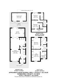 Large floorplan for George V Avenue, Pinner, HA5