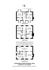 Large floorplan for Trent Park, Enfield, EN4