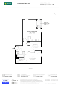 Large floorplan for Arboretum Place, Barking, IG11