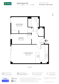 Large floorplan for Epstein Square, Canary Wharf, E14