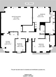 Large floorplan for Chelsea Harbour, Chelsea, SW10