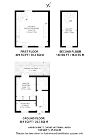 Large floorplan for Reed Place, Clapham High Street, SW4