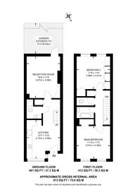 Large floorplan for Philpot Square, Sands End, SW6