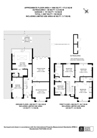 Large floorplan for Baron Grove, Mitcham, CR4