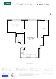 Large floorplan for Mortimer Crescent, St John's Wood, NW6