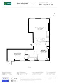 Large floorplan for Balcorne Street, Victoria Park, E9