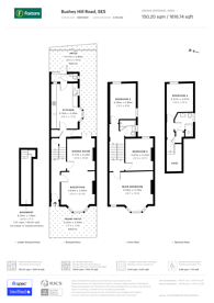 Large floorplan for Bushey Hill Road, Camberwell, SE5