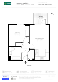 Large floorplan for Adenmore Road, Catford, SE6