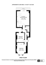 Large floorplan for Davisville Road, Shepherd's Bush, W12