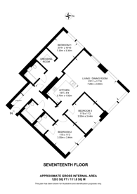 Large floorplan for SQP E14, Canary Wharf, E14