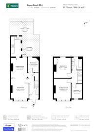 Large floorplan for Bruce Road, Mitcham, CR4