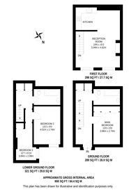 Large floorplan for Fitzroy Square, Fitzrovia, W1T
