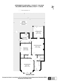 Large floorplan for Birdhurst Gardens, South Croydon, CR2