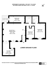 Large floorplan for Queensberry Place, South Kensington, SW7
