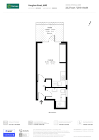 Large floorplan for Vaughan Road, West Harrow, HA1