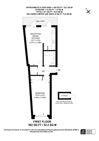 Large floorplan for Sovereign House, Twickenham, TW1
