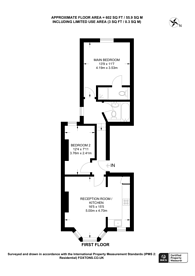 Large floorplan for Worcester Gardens, Between the Commons, SW11
