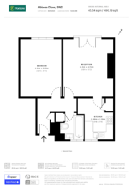 Large floorplan for Abbess Close, Tulse Hill, SW2