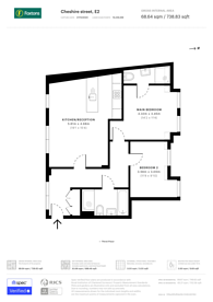 Large floorplan for Cheshire Street, Shoreditch, E2
