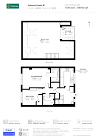 Large floorplan for Masters Lodge, Shadwell, E1