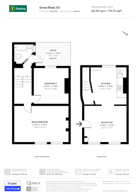 Large floorplan for Grove Road, Bow, E3