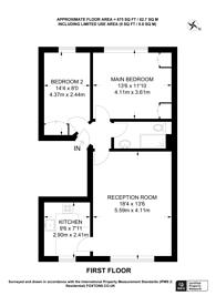 Large floorplan for Elsham Road, Holland Park, W14
