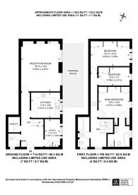 Large floorplan for Adrian Mews, Chelsea, SW10